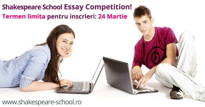 Mai sunt sase zile de inscriere la Shakespeare School Essay Competition!